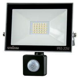Zewnętrzna LAMPA ścienna KROMA LED 20W 03605 Ideus elewacyjna OPRAWA reflektorowa z czujnikiem ruchu outdoor IP44 szara