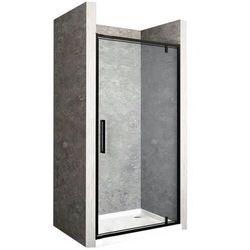 Drzwi prysznicowe z czarnym profilem 70 cm Rapid Swing Rea UZYSKAJ 5 % RABATU NA ZAKUP