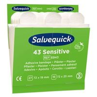 Plastry opatrunkowe, Plastry Opatrunkowe Salvequick Sensitive Do Skóry Wrażliwej Cederroth 51030127- 2 Opakowania - 86 Sztuk