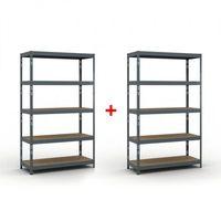 Regały warsztatowe, Regał półkowy 2000 x 1200 x 500 mm, nośność 280 kg 1+1 GRATIS Włóż do koszyka jedną sztukę, drugą sztukę wyślemy automatycznie gratis. Akcja trwa do wyprzedania zasobów.