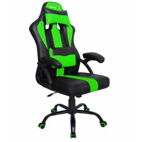 Fotele dla graczy, Fotel gamingowy Huzaro Force 3.0 czarno-zielony