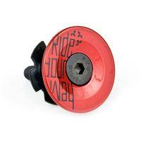 Pozostałe części rowerowe, Gwiazdka sterów DARTMOOR Top Card Ride Your Way + kapsel red devil
