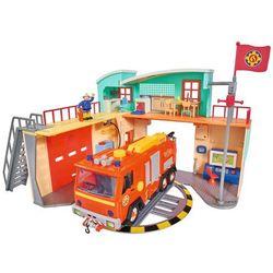 Simba Strażak Sam Stacja ratunkowa Remiza i wóz strażacki Jupiter