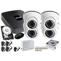 Zestawy monitoringowe, Rejestrator IP BCS BCS-NVR04015ME + 4x Kamera FullHD LV-IP2M2DFWH-II + Dysk 1TB + Akcesoria