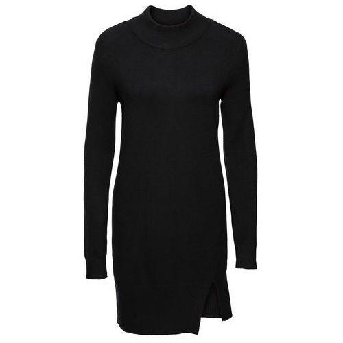 Swetry i kardigany, Długi sweter z rozcięciami bonprix czarny