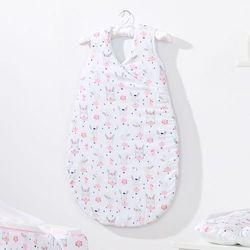 MAMO-TATO Śpiworek niemowlęcy do spania Bubble Zajączki białe