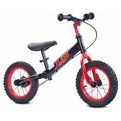 Solidny metalowy rowerek biegowy gumowe koła Toyz Flash
