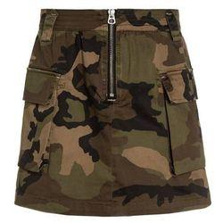 Replay Spódnica trapezowa military green