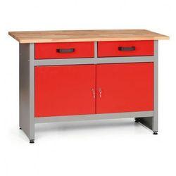 Stół roboczy z szufladami i szafkami