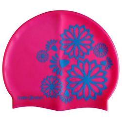 Czepek silikonowy pływacki młodzieżowy - Odcienie różu
