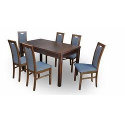 """Zestaw """"DIVA"""" stół + 6 krzeseł - granatowy"""