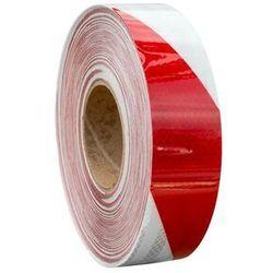 Taśma odblaskowa samoprzylepna biało-czerwona - 1 metr