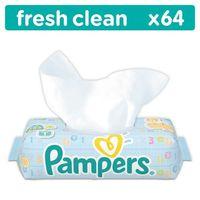 Pieluchy jednorazowe, Pampers Chusteczki Fresh Clean x 64 szt.