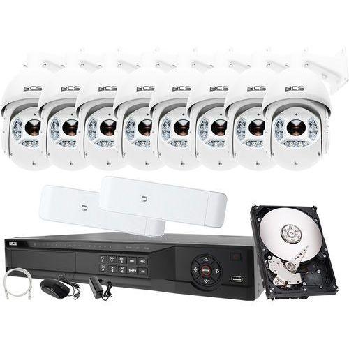 Zestawy monitoringowe, Rejestrator IP BCS BCS-NVR16045ME-II + 8x Kamera 2MPx BCS-SDIP5225-III + Akcesoria
