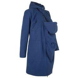 Płaszcz ciążowy z wstawką niemowlęcą na nosidełko do noszenia z przodu i z tyłu bonprix kobaltowy
