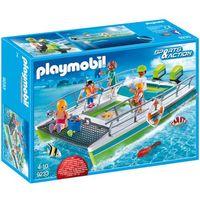 Klocki dla dzieci, Playmobil SPORTS & ACTION Łódka ze szklaną nawierzchnią 9233