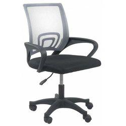 Szary młodzieżowy fotel obrotowy do biurka - Morgan