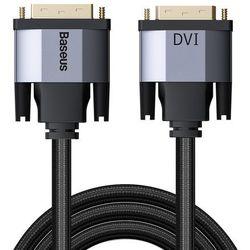 Baseus Enjoyment dwukierunkowy kabel przewód DVI / DVI 2m szary (CAKSX-R0G) - 2