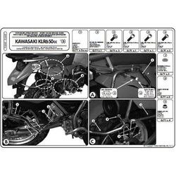 Kappa KL448 Stelaż boczny Kawasaki Klr 650 Enduro (07> 09)
