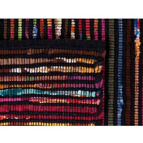 Dywany, Dywan wielokolorowo-czarny bawełniany 140x200 cm BARTIN