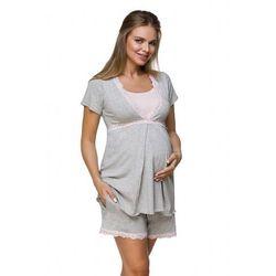 Piżama ciążowa lupoline 3126 k rozmiar: 42, kolor: szaro-różowy, lupo