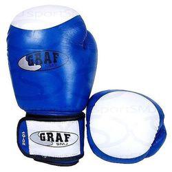 Rękawice bokserskie BLUE SMJ 3642 Skóra cielęca