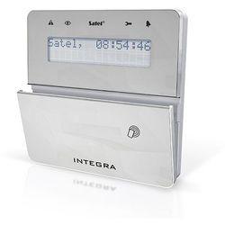 Manipulator LCD z czytnikiem zbliżeniowym INT-KLFR-SSW (typ F, srebrny, białe podświetlenie; GRADE 3)