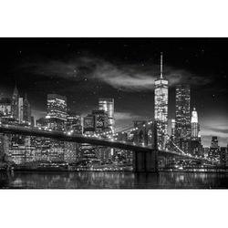 Nowy Jork Wieża Wolności Nocą - plakat