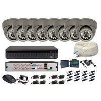 Zestawy monitoringowe, Zestaw monitoring 8 kamer 2MPx (FULL HD) + Zasilanie + Akcesoria + Przewód