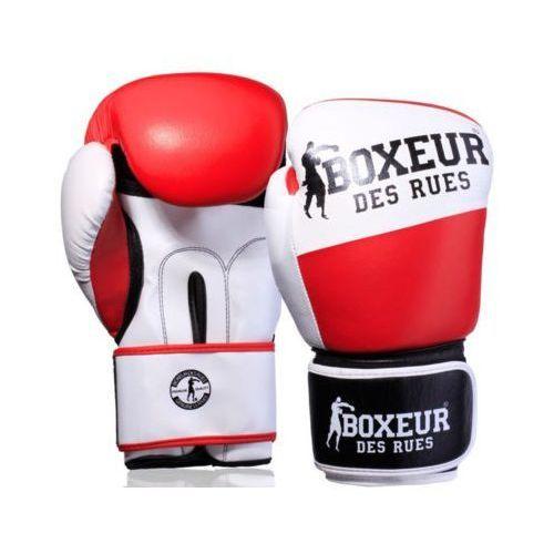 Rękawice do walki, Rękawice bokserskie BOXEUR BXT-591 Biało-czerwony (14 oz)
