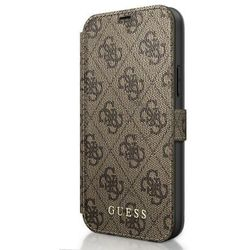 """Guess GUFLBKSP12M4GB iPhone 12 6,1"""" Max/Pro brązowy/brown book 4G Charms Collection"""