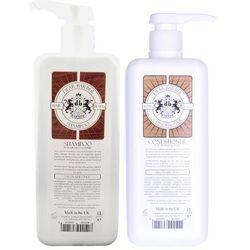 Dear Barber Hair and Beard   Zestaw do pielęgnacji włosów i brody: szampon do włosów i brody 1000ml + odżywka do włosów i brody 1000ml