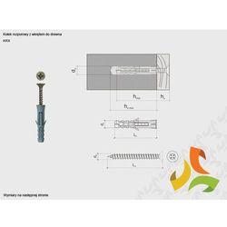 KRX 8/4,0x50 kołek rozporowy z wkrętem do drewna (200szt)