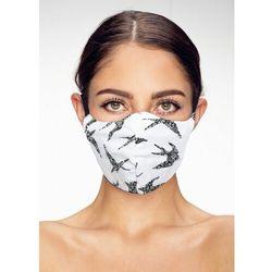 Maska ochronna na twarz bawełniana streetwear jaskółki