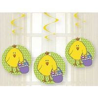 Ozdoby świąteczne, Dekoracja wisząca świderki Kurczaczki na Wielkanoc - 3 szt.