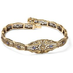 Kolekcja Wiktoriańska - bransoletka z diamentami i szafirami
