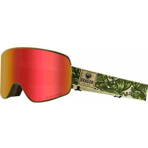 Kaski i gogle, gogle snowboardowe DRAGON - Dr Nfx2 Two Plex Llredion+Llyellow (800) rozmiar: OS