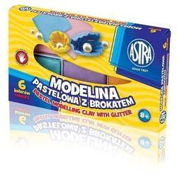 Modelina 6 kolorów pastelowa z brokatem ASTRA
