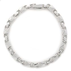 Bransoletka MICHAEL KORS - Med Link Bracelet MKC1004AN040 Silver Clear