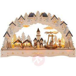 Świecznik LED jarmark bożonarodzeniowy, piramida