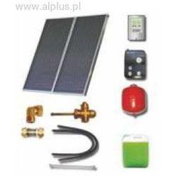Zestaw solarny dla 3-4osób 2xkolektory słoneczne 2,65m2 POLSKIE absorber meandryczny Al-Cu