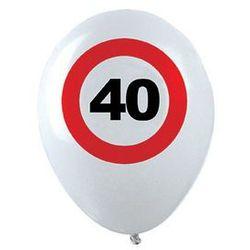 Balony Znak zakazu 40tka - 30 cm - 12 szt.