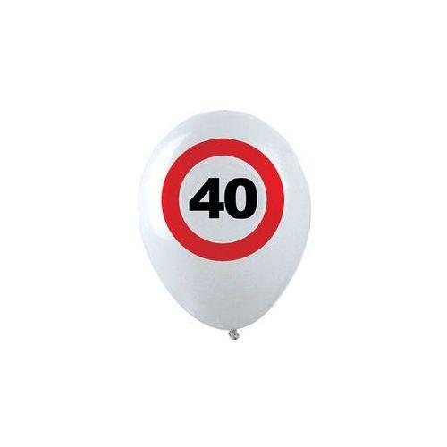 Balony, Balony Znak zakazu 40tka - 30 cm - 12 szt.