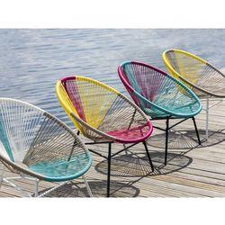 Krzesło rattanowe różowo-turkusowe ACAPULCO