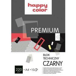 HAPPY COLOR BLOK TECHNICZNY PREM. A4 220g 10k CZARNY HAP.COLOR