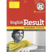 Książki do nauki języka, English result intermediate Workbook with answer key booklet+Cd (opr. miękka)