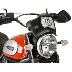 Owiewka PUIG Retroplate do Ducati Scrambler Icon/Classic/Full T. 15-17 (czarna)