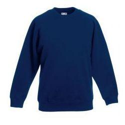 Dziecięca bluza Raglan Sweat Fruit of the loom - kolor granatowy/navy