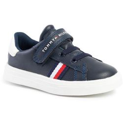 Sneakersy TOMMY HILFIGER - Low Cut Velcro Sneaker T1B4-30491-0740X007 Blue/White X007