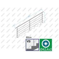 Przęsła i elementy ogrodzenia, Balustrada nierdzewna AISI304, D42,4/4xd12/H900/L3